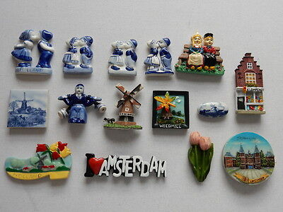One Selected Souvenir Fridge Magnet from from the Netherlands Holland Amsterdam