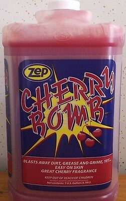 Zep Cherry Bomb Hand Cleaner, Triple Play (3) Gallons With Pump