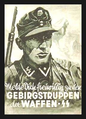 Waffen SS Recruitment Poster Photo Mountain Troops.