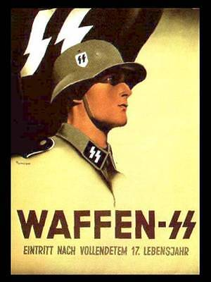 Waffen SS Recruitment Poster Pair - Join Us !