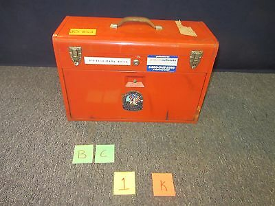 Remline Tool Box Chest Red Military Metal Trays Large Drawers Kit Surplus Used