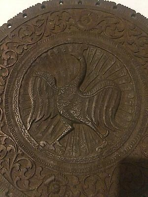 Mid 19th Century Maori Wooden Hand Carved Plaque Of A Pheasant - 1860s