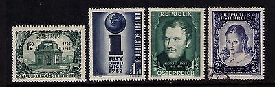 Austria Stamps Sc# 580-583 Mlh/used