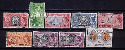 BERMUDA Stamps 1953-1959 small lot USED