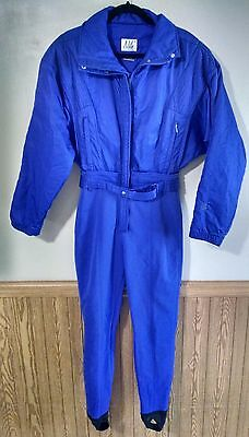 Vintage NILS Purple Snowsuit Womens Size 10 Onesie Snow Ski Suit Coat BIB
