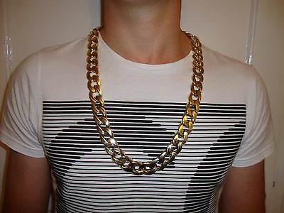 Chunky Fake Gold Chain New Gangster Hip Hop Fancy Dress