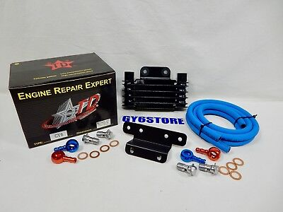 Taida High Performance Gy6 Oil Cooler Set Radiator, Hose And Fittings Only