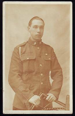 YOUNG SOLDIER VINTAGE PHOTOGRAPH POSTCARD Fred from Germany 1919