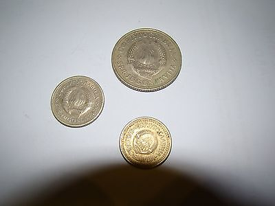 3 x coins from Yugoslavia