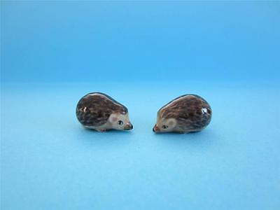 New Two Super Minis (Miniature) Hedgehog Figurines,they Are So Lovely With/box