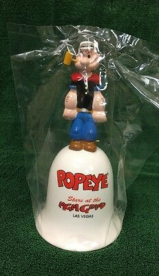 "Vintage 1993 POPEYE Ceramic Bell ""Popeye Stars at the MGM Grand Las Vegas"" NEW"