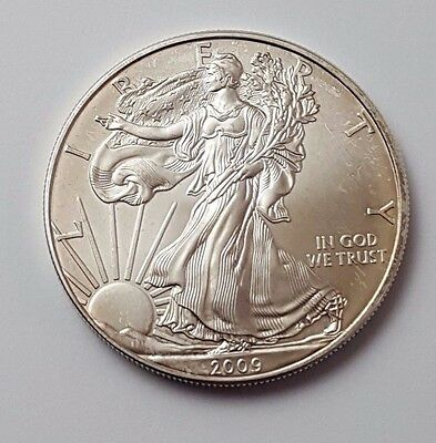 U.s.a - Dated 2009 - Silver - Eagle - $1 One Dollar Coin - American Silver Coin