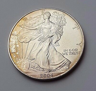 U.s.a - Dated 2004 - Silver - Eagle - $1 One Dollar Coin - American Silver Coin