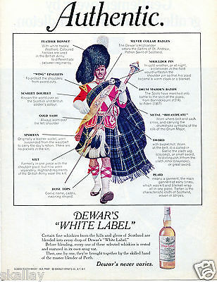 1969 Print ad of Dewar's White Label Scottish Whisky Authentic