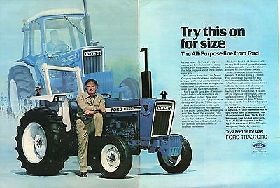 1978 Ford 7600 & 3600 2 Page Farm Tractor Print Ad