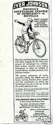 1931 Iver Johnson Arms & Cycle Works Bicyle Vintage Print Ad