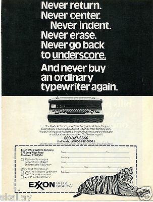 1981 Print Ad of Exxon Office Systems Qyx Electronic Typewriter