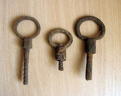 3 Antique Viking keys  8-10 A.D.