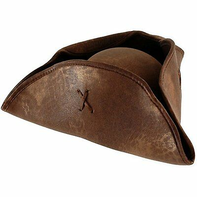 elope Pirates of the Caribbean Jack Sparrow Hat Brown Adult One-Size