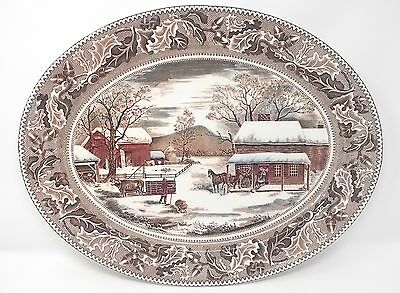 Historic America Johnson Brothers Thanksgiving Platter Turkey platter 20""