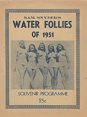 "Sam Snyder's ""Water Follies of 1951"" programme"