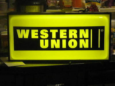 Western Union Lighted Sign Works!