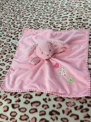 Carters NWT Pink Hearts Lovey Rare Bunny New Baby Security Blanket Plush & Soft