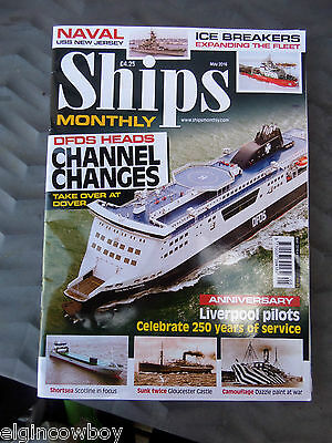 Ships Monthly May 2016 Liverpool Anniversary, Dfds ,ice Breakers