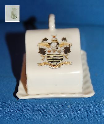 "Gemma crested ware ""Blackpool"" cheese/butter dish"