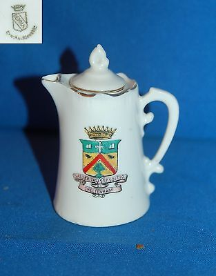 "Gemma crested ware ""Cheltenham"" lidded coffee pot/jug"