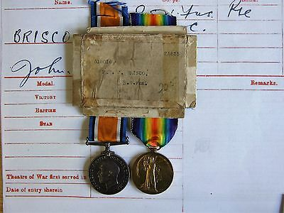 WW1 & WW2 Boxed Father & Son Medals Royal Welsh Fusiliers & RAF Briscoe Skipton.