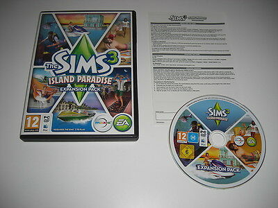THE SIMS 3 ISLAND PARADISE Add-On Expansion Pack Pc DVD / Apple MAC - FAST POST