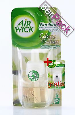 [31,49€/100ml] 3x AirWick Color of Nature White Vanilla Bean 19 ml