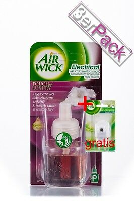 [31,49€/100ml] 3x AirWick Smooth Satin & Moon Lilly 19 ml