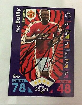 NEW Match Attax 16 17 Signed Eric Bailly Card Manchester United