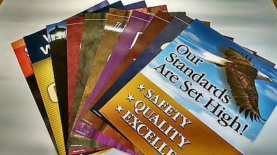 Safety Posters (10 Qty) Harkins Safety Industrial Motivational Safety Excellence
