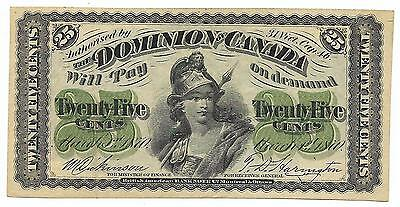 25 cents 1870 Dominion of Canada DC1