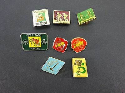 Collection Of 8 Boys Scouts Metal Belt Badges Vintage Gang Show Walkabout Etc