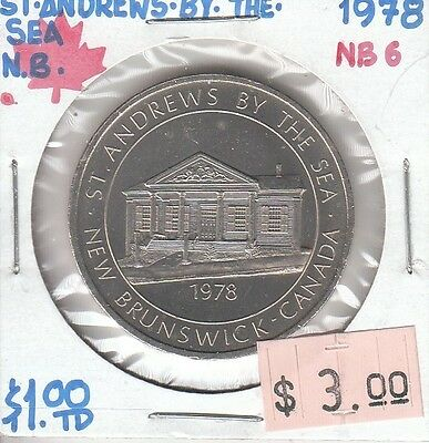 St. Andrews by the Sea New Brunswick Canada - Trade Dollar - 1978