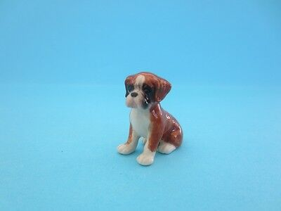 "Little Critterz ""buddy"" Boxer Puppy Dog Figurine So Cute With Box *mint*"