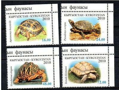 Timbres - Kirghizistan - Kyrgyzstan - Kp - Turtles - Tortues - 2010 -