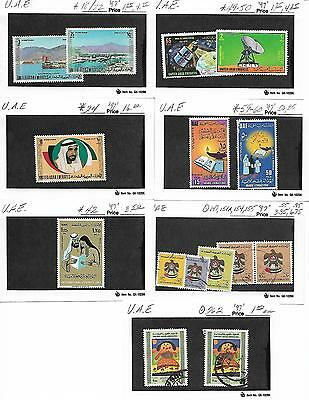 Mint/Used United Arab Emirates Stamp Collection-Nice Selection-No Reserve