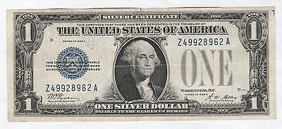 Circulated 1928-A $1 Silver Certificate--Ungraded, Funny Back, Free Shipping