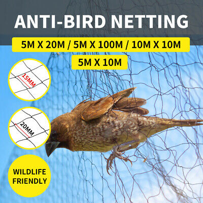 Commercial Fruit Tree Plant Knitted Anti Bird Netting Pest Net