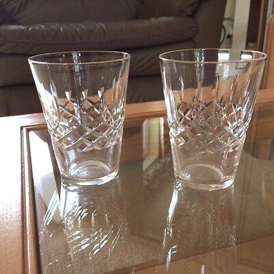Two Cut Glass Tumblers