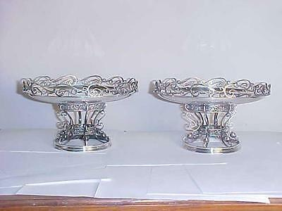 William B Meyers Sterling Silver Pair of Tazzas/Compotes Art Nouveau/Modernist