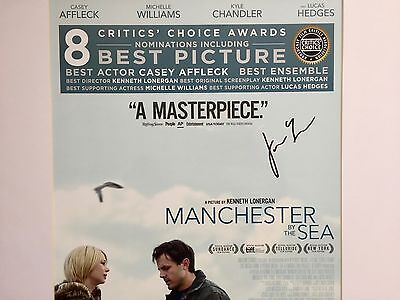Manchester By The Sea  Signed Poster. 18 x 24 Signed by the director.