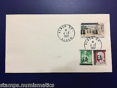 Algeria 1962, EA Optd Stamps - FDC First Day Cover VF RRR