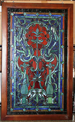 "Beautiful Stained Glass Window - 37""Tall x 23"" Wide - Blue"