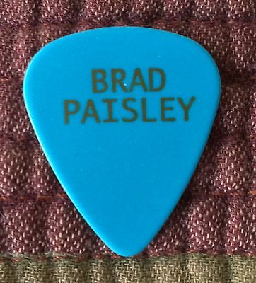 Brad Paisley Light Blue & Gold Stage Used Official Tour Ernie Ball Guitar Pick